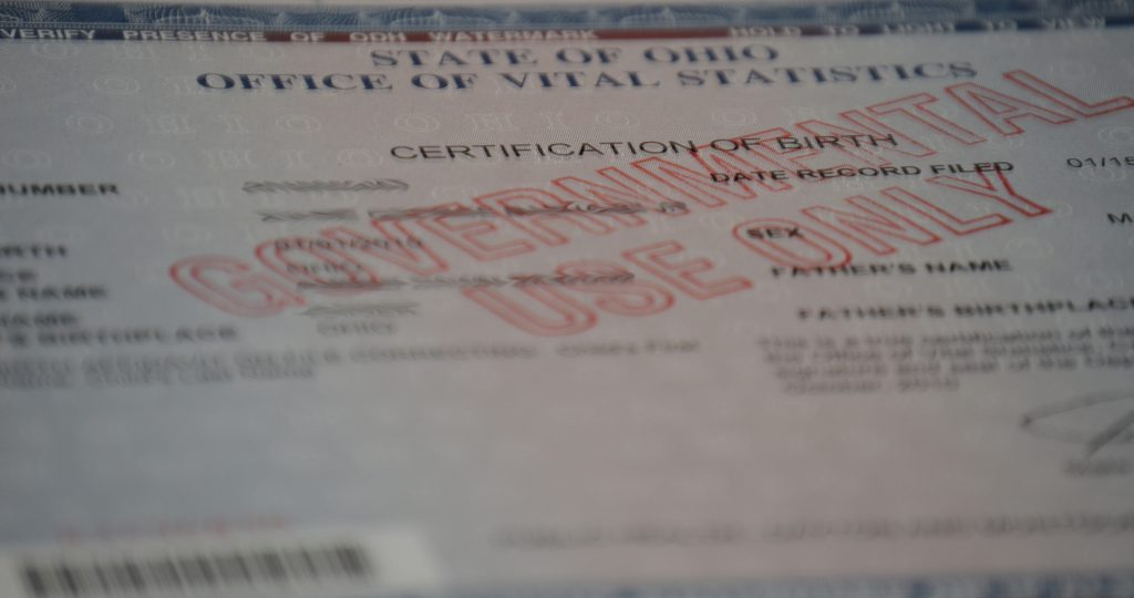 How to get your birth certificate in ohio